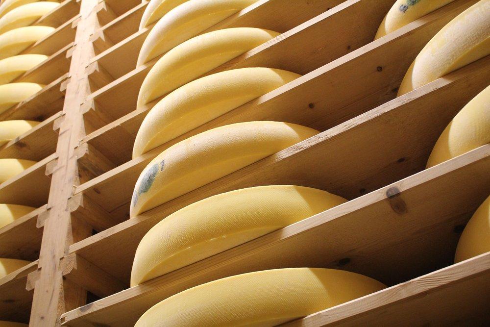 Comté cheese cave