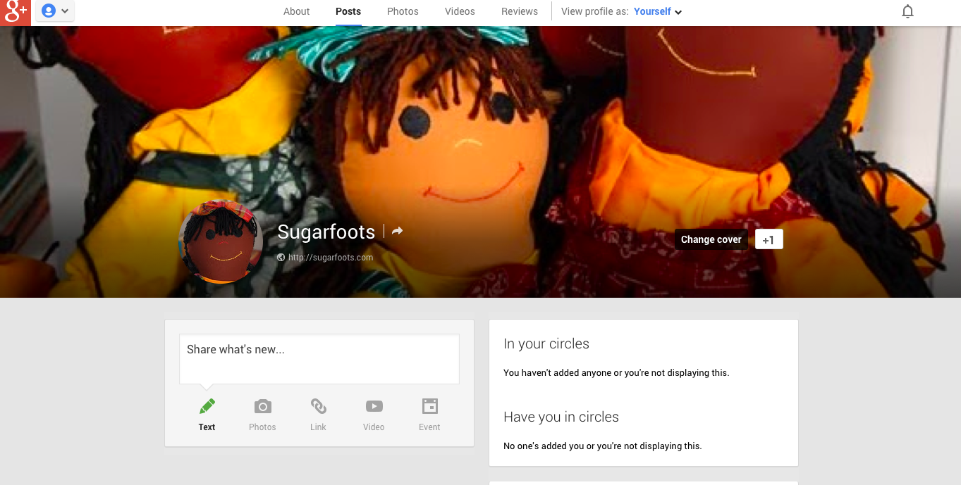 Sugarfoots on Google +