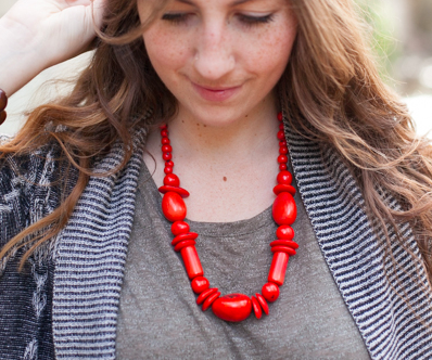 fair trade coral necklace
