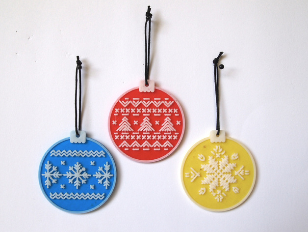 "Source: Thingiverse ""Cross Stitch Bauble Series"" by alanaaa"