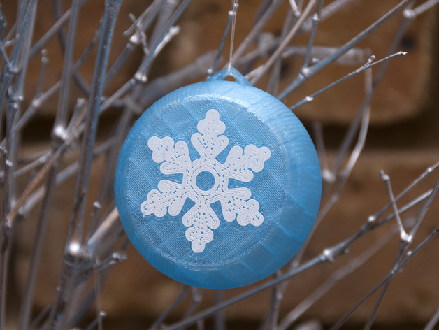 "Source: Thingiverse ""Christmas Baubles"" by Mark Wheadon"