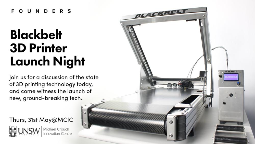 Blackbelt 3D Printer Australia Launch