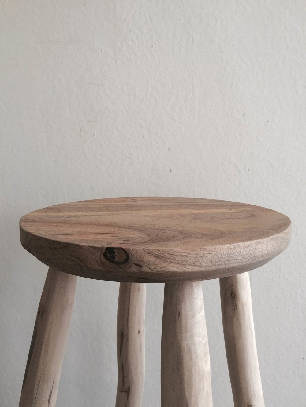 Tall Wooden Stool £140 (details).JPG