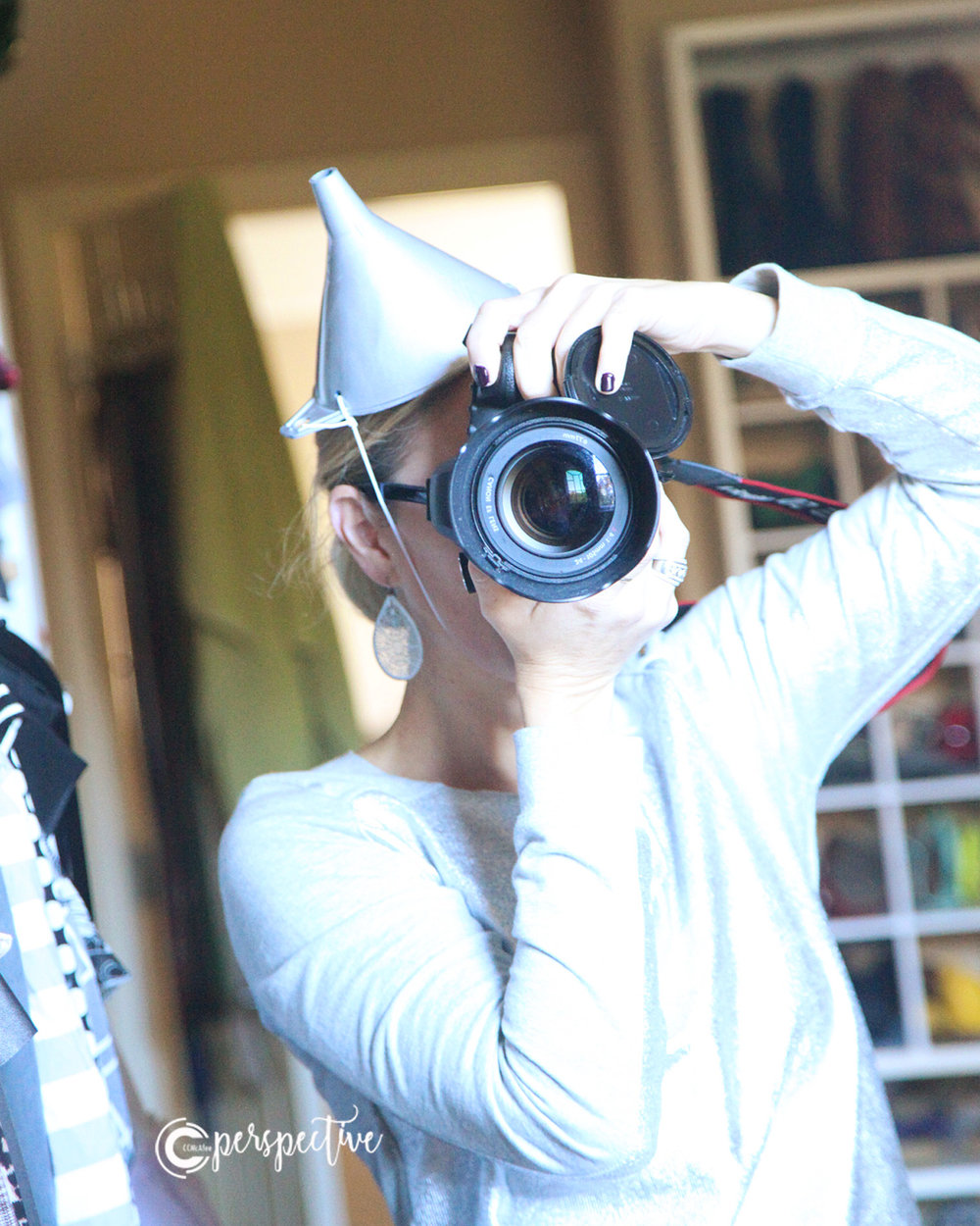 diy tin man hat, funnel
