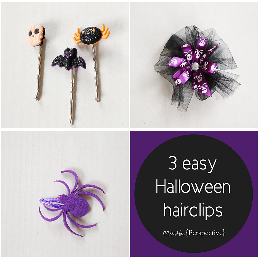 diy halloween hair clips