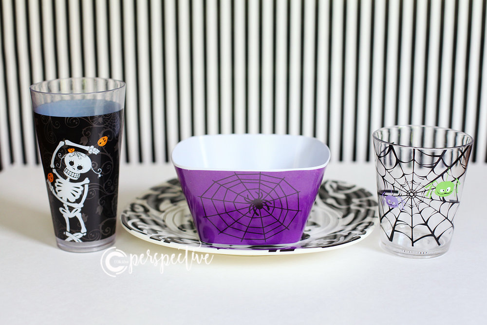 halloween dishes spider cups