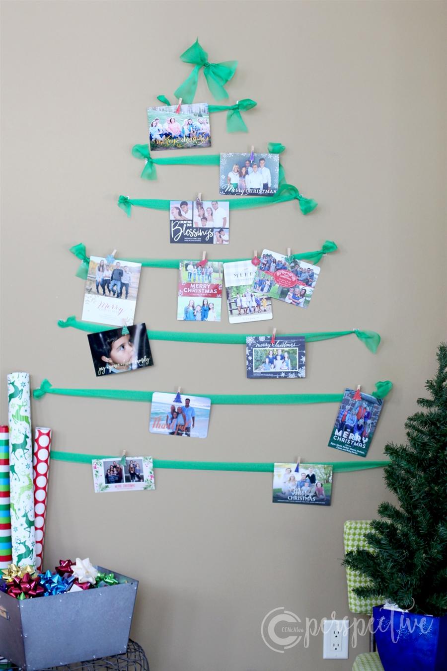 ribbon Christmas cards