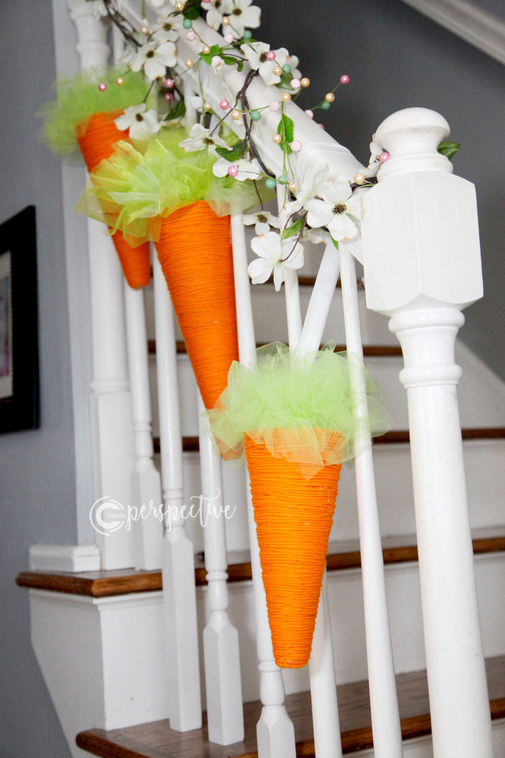 spring decor carrots