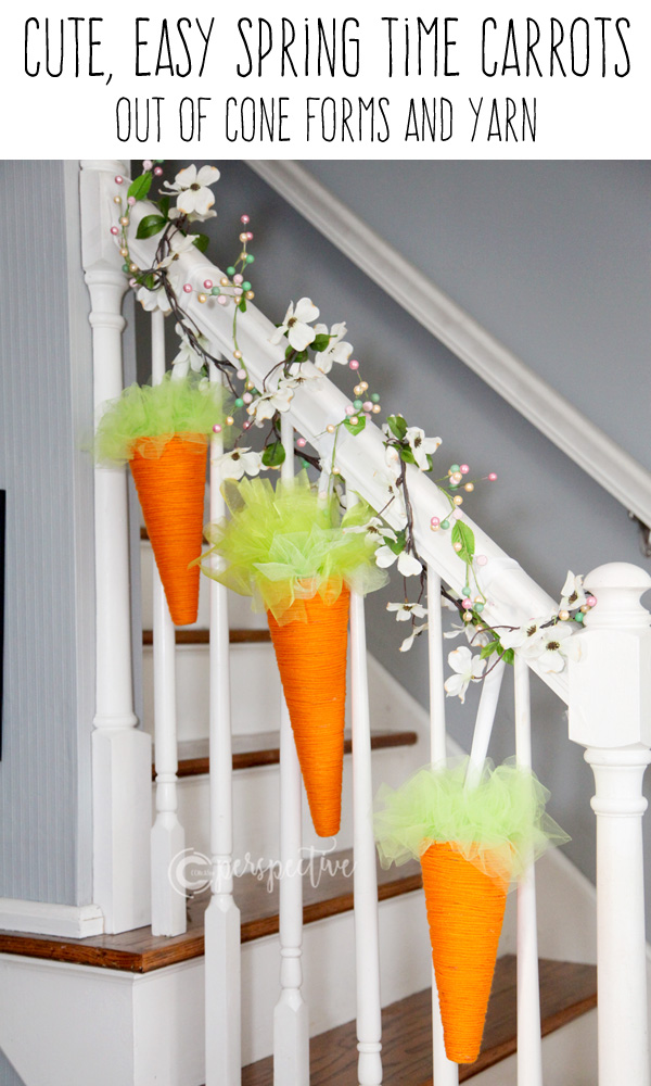 diy yarn carrots