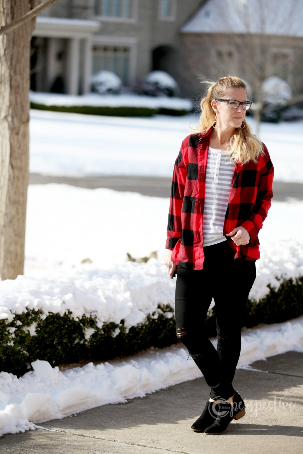 buffalo plaid, winter look
