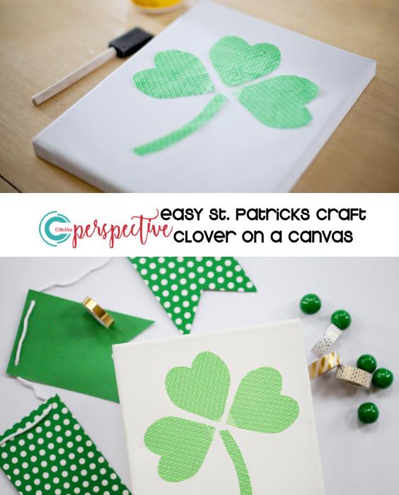 St. Patrick's decor. clover craft.