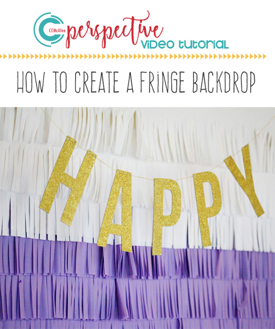 video tutorial, diy fringe backdrop