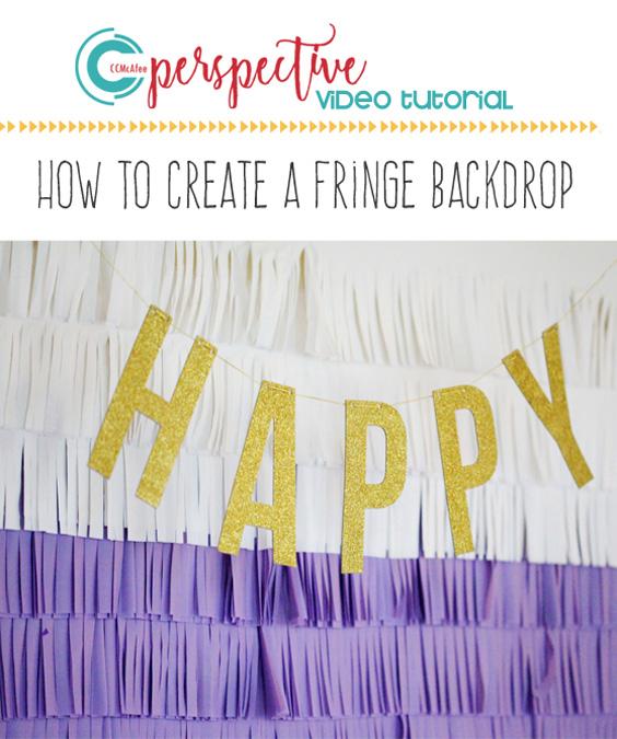 video tutorial, diy fringe backdrop