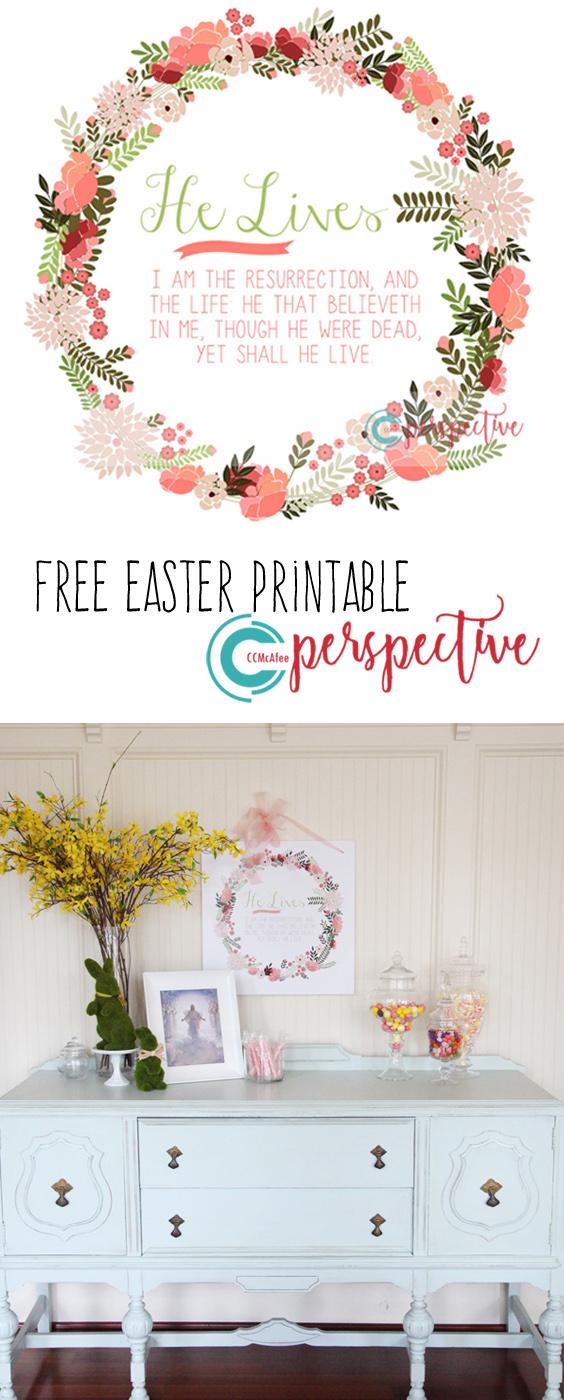 free Easter printable He Lives!