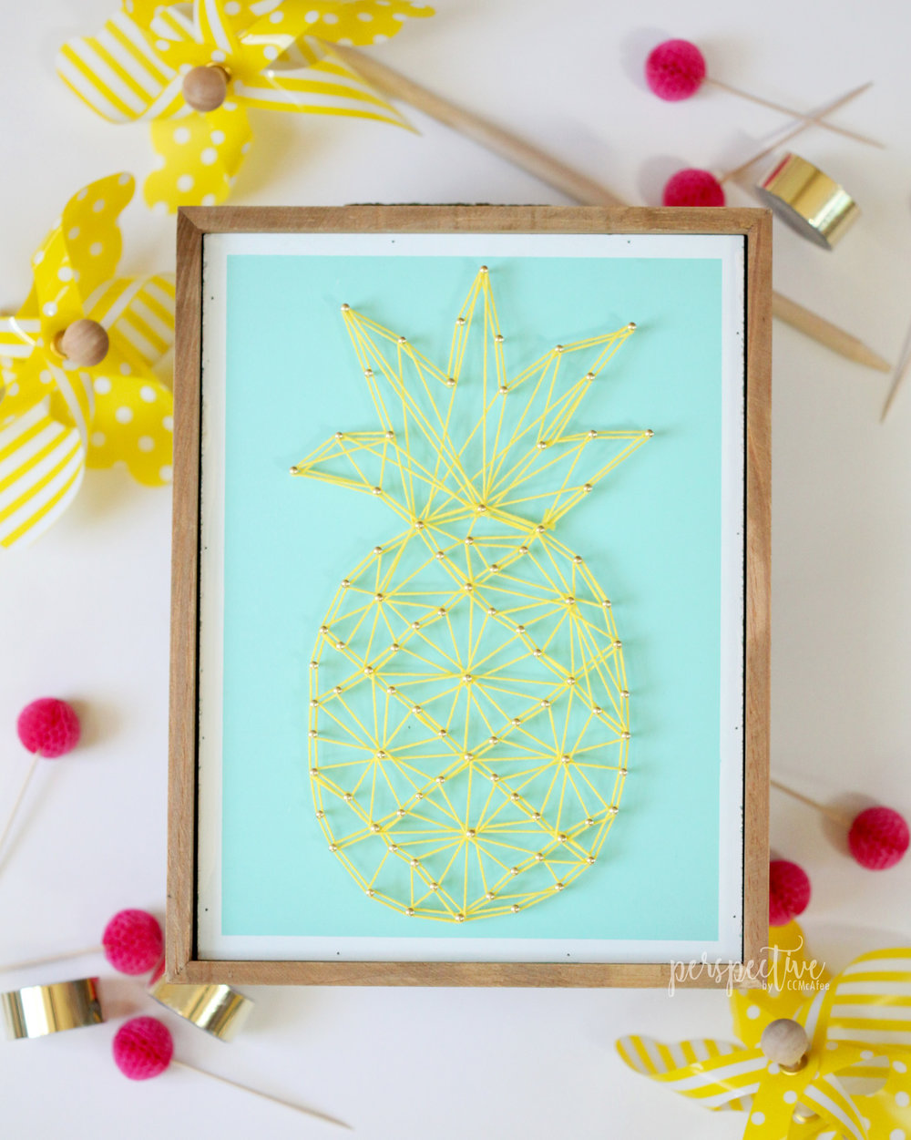 pineapple decor, pineapple string art, hobby lobby