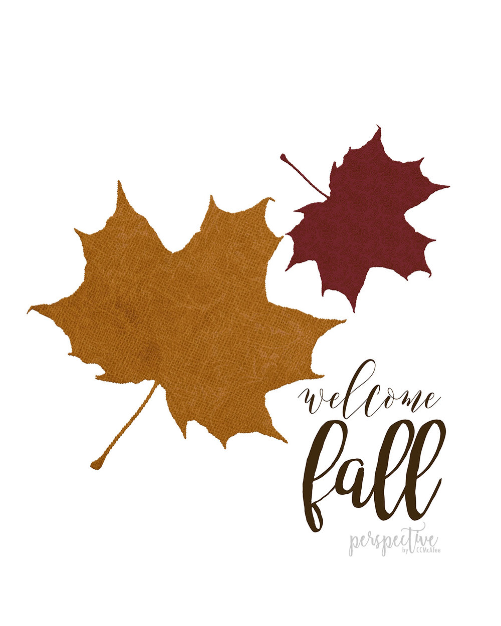 free fall printable welcome fall