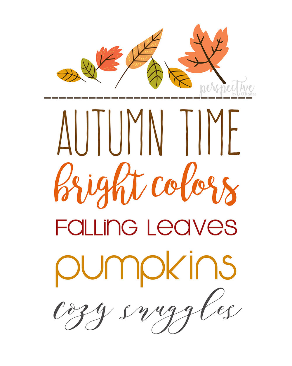 fall printable autumn time