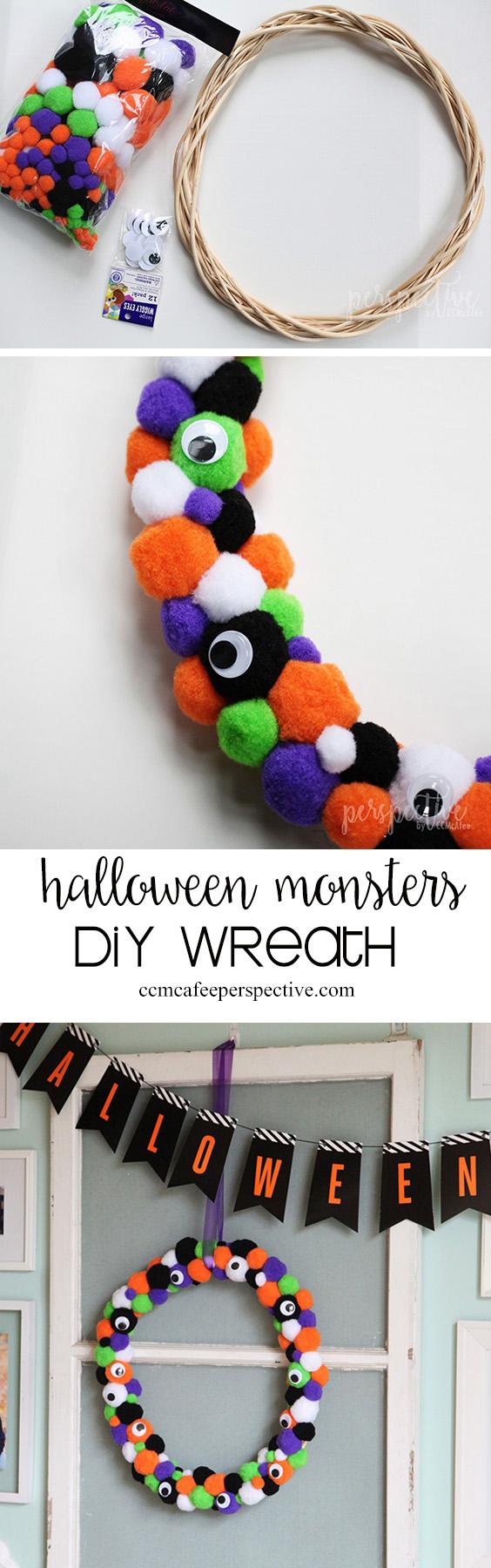 Halloween Monster Wreath