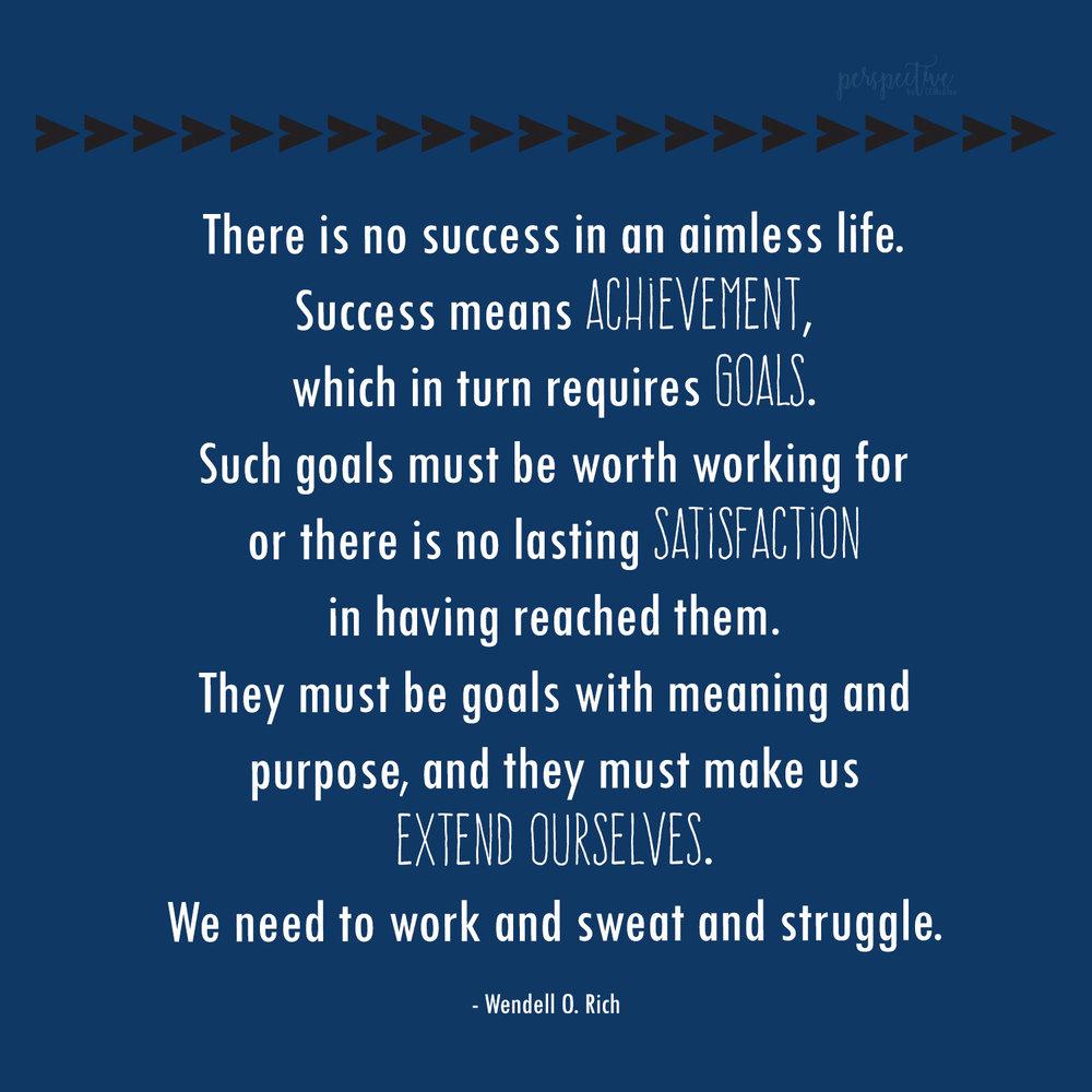 goals and success quote