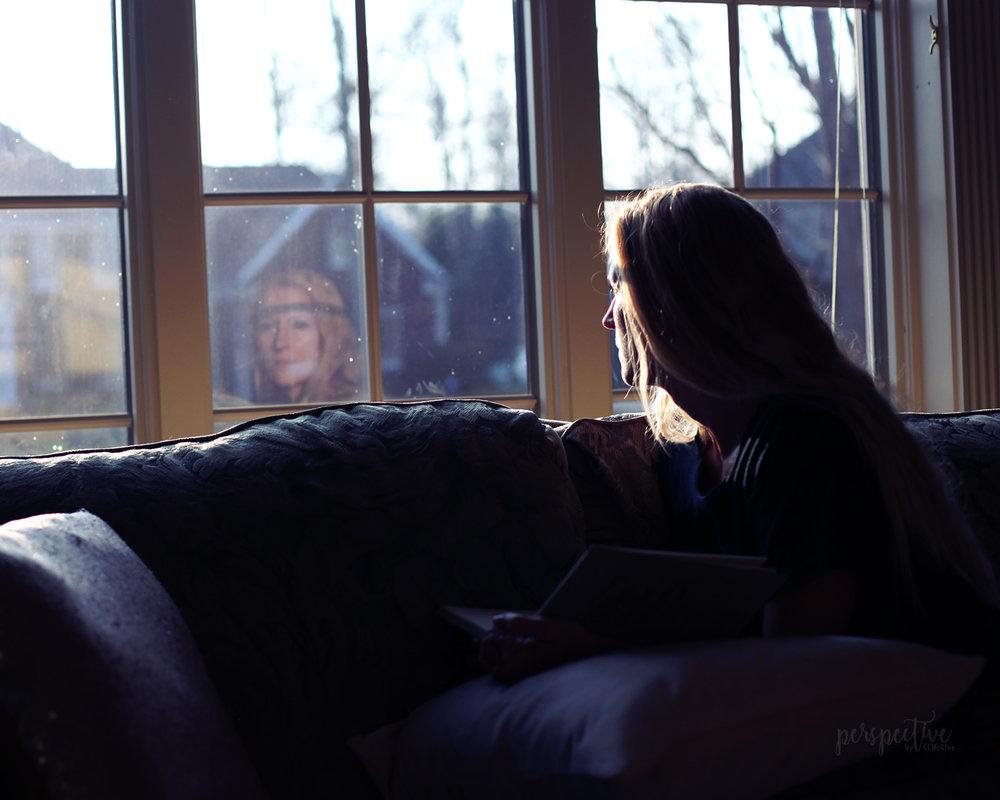 window reflection photo