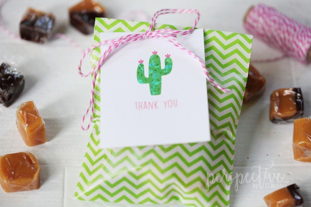 cactus thank you tag