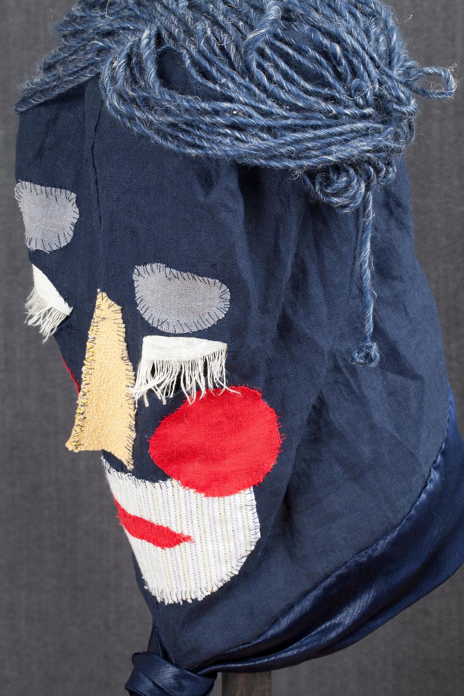 Mask (blue) / 2016 textiles and div. materials 25 x 25 x 30cm