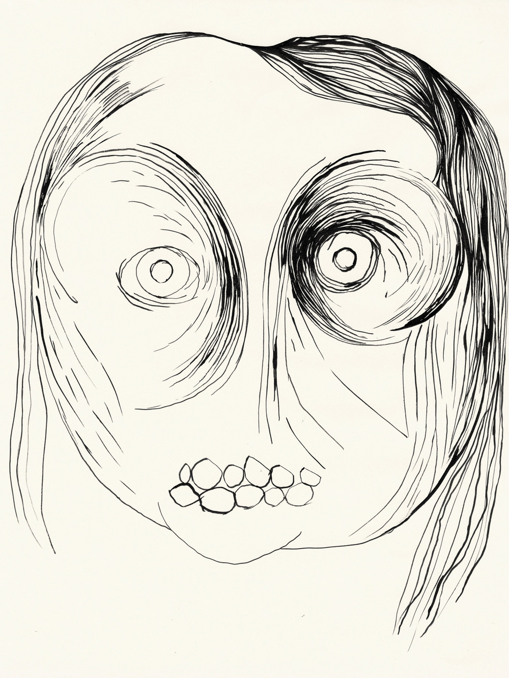 Untitled / 2013 (from the serie Volcano) chinese ink on paper 30 x 40cm