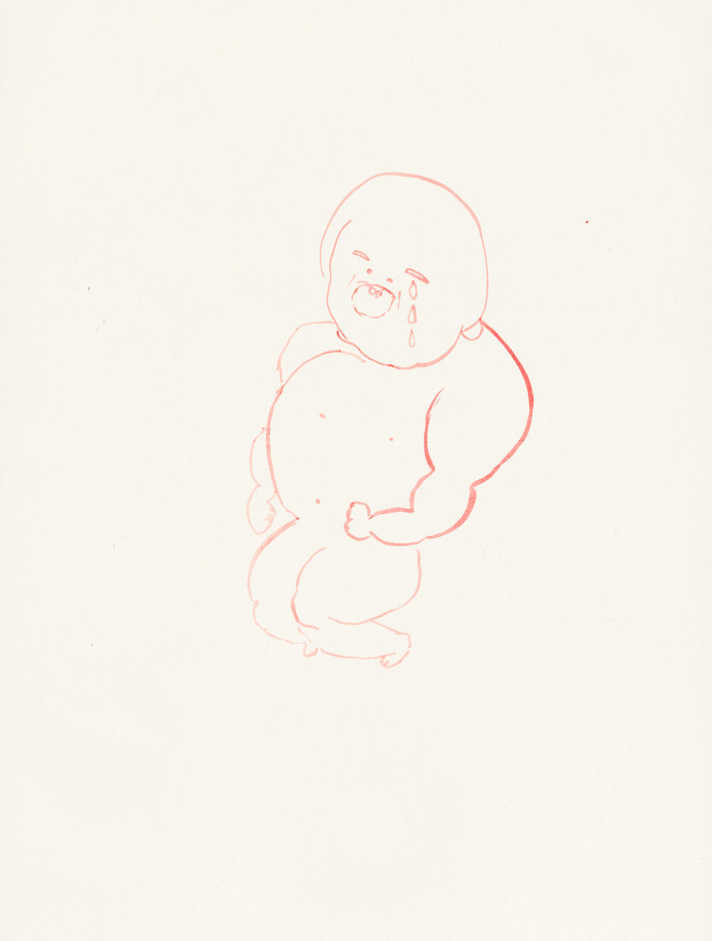 """Untitled / 2010 (from the serie """"Babys"""") ink on paper 30 x 40cm"""