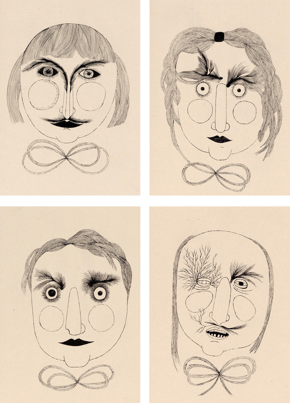 """Portraits"" / 2012 chinese ink on paper 30 x 40cm"