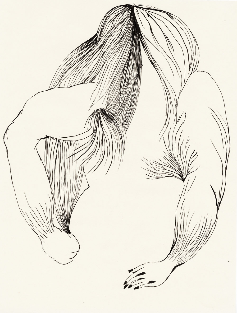 """Untitled / 2013 (from the serie """"Volcano"""") chinese ink on paper 30 x 40cm"""