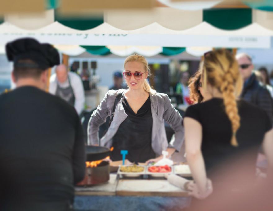 woman at food stall