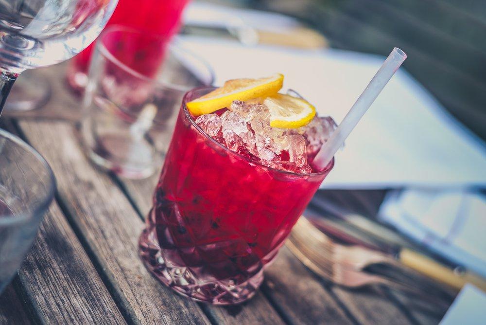 Pink lemonade drink