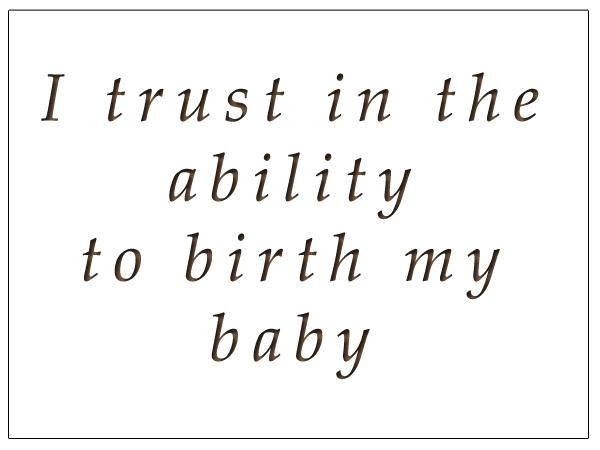 Birth Affirmation 1