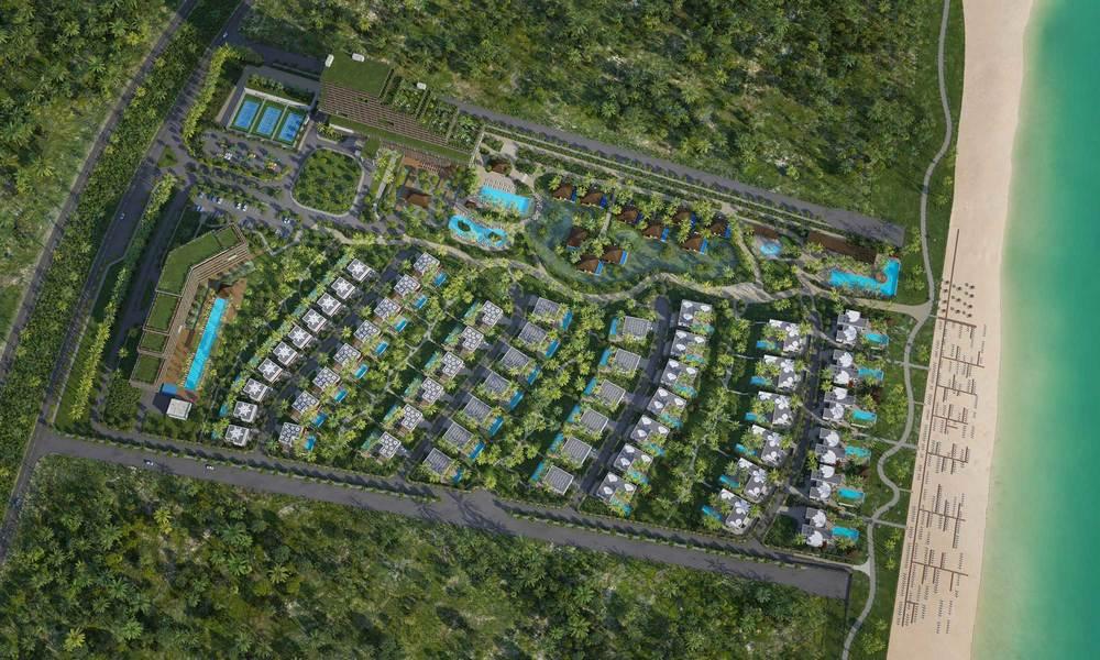 Вид на курортCam Ranh Flowers Resort с высоты птичьего полета