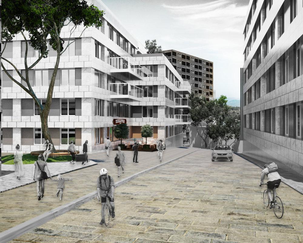 В кластере «Университет Жизни» будет очень зелено и приятно благодаря близости парка. На территории кластера планируется создать среду комфортную для размещения здесь образовательной функции.
