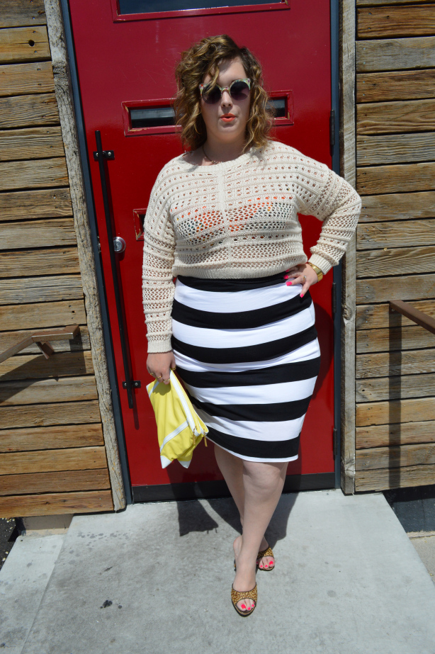 stripes, leopard, crochet, plus size skirt, target, guess, bebe, forever 21, target plus size