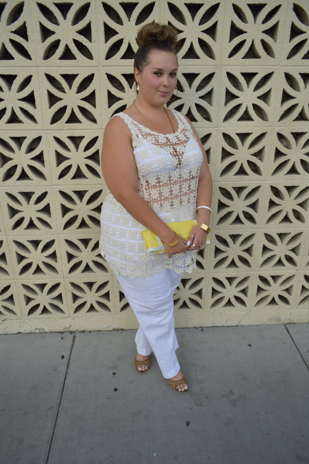 simplybe, plus size pants, white pants, forever 21 plus size, #ootd, #honormycurves, #celebratemysize