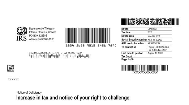 CP3219A Notice of Deficiency