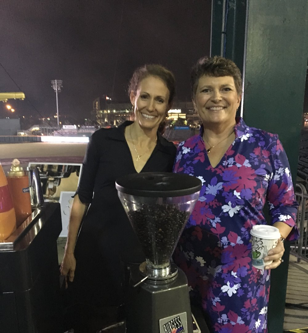 Supporting our great community at a Chamber event at the baseball grounds.  Catering in Katherine Way dresses, of course!