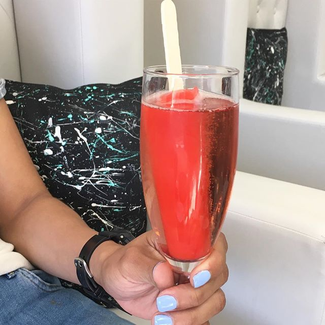 Mani x Bubbly & Popsicles only at Nail Lounge. Let's see who does it next!! 💅🏽🍧