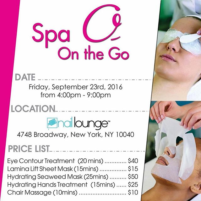 Ladies & Gents make sure to check out @spaoonthego today at 4pm 💁🏼💆🏻