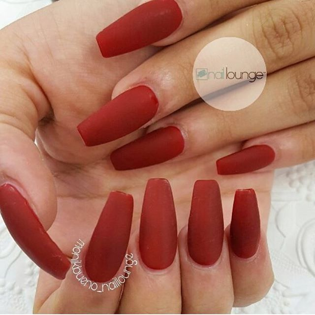 Matted Red 🌹 💅🏽 #nailedbynl ☎️ 212-567-6700 📍4748 Broadway New York, NY 10040 📧 info@nailloungeny.com 📱App Store: Nail Lounge 💻 www.nailloungeny.com ⏰ Mon 12-7pm, Tues-Thurs 10-7pm, Fri-Sat 10-9pm, Sun 12-6pm  We accept appointments Mon -Thurs & walk-ins 7 days a week.  Download the Nail Lounge App to book appts, stay connected and receive discounts.