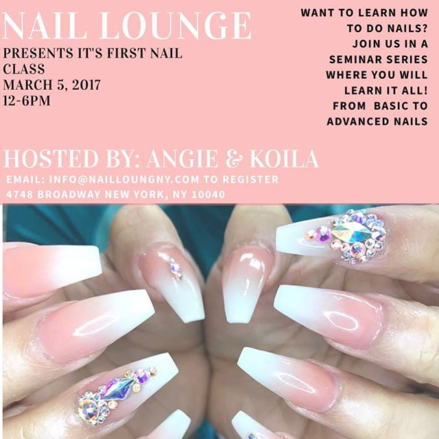 We are excited to announce that there are only a few slots left. Please make sure to purchase register for our first class. DM or Email us for further info. 💅🏽