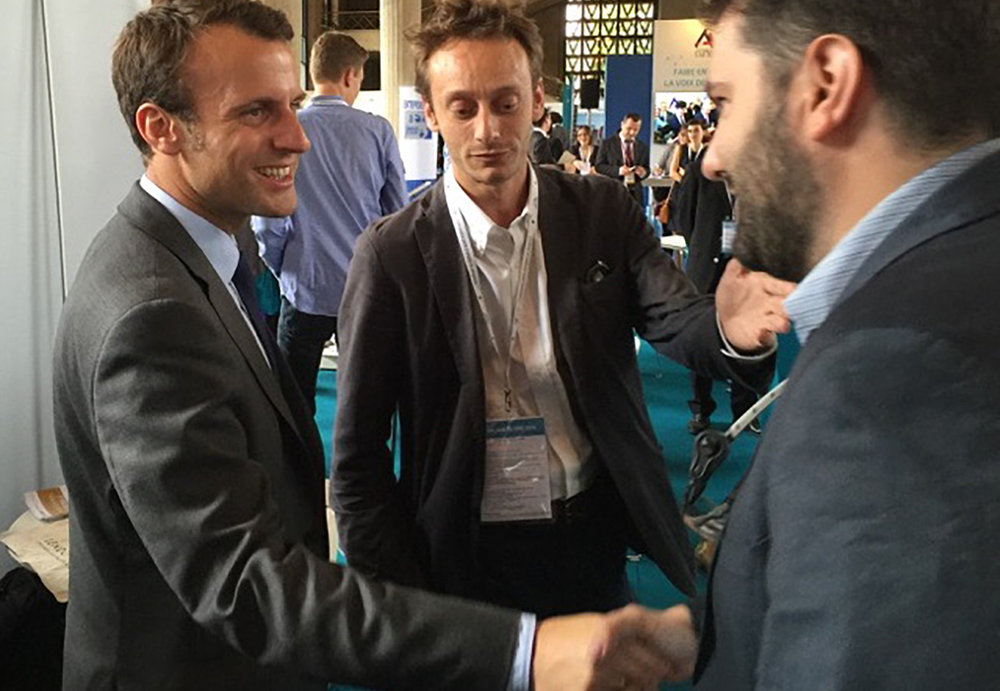 Emmanuel Macron congratulates us for our French record for crowdfunding.