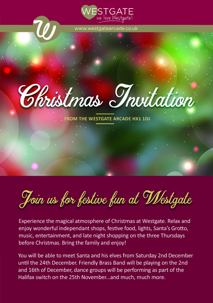 a christmas invitation to westgate westgate arcade