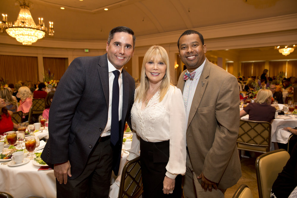 From left: Ben Armenta of Credera, Brenda Love of Love Advertising, and Edward Melton of Harris County Public Library at the inaugural Ladies for Literacy Guild Power of Literacy Luncheon.