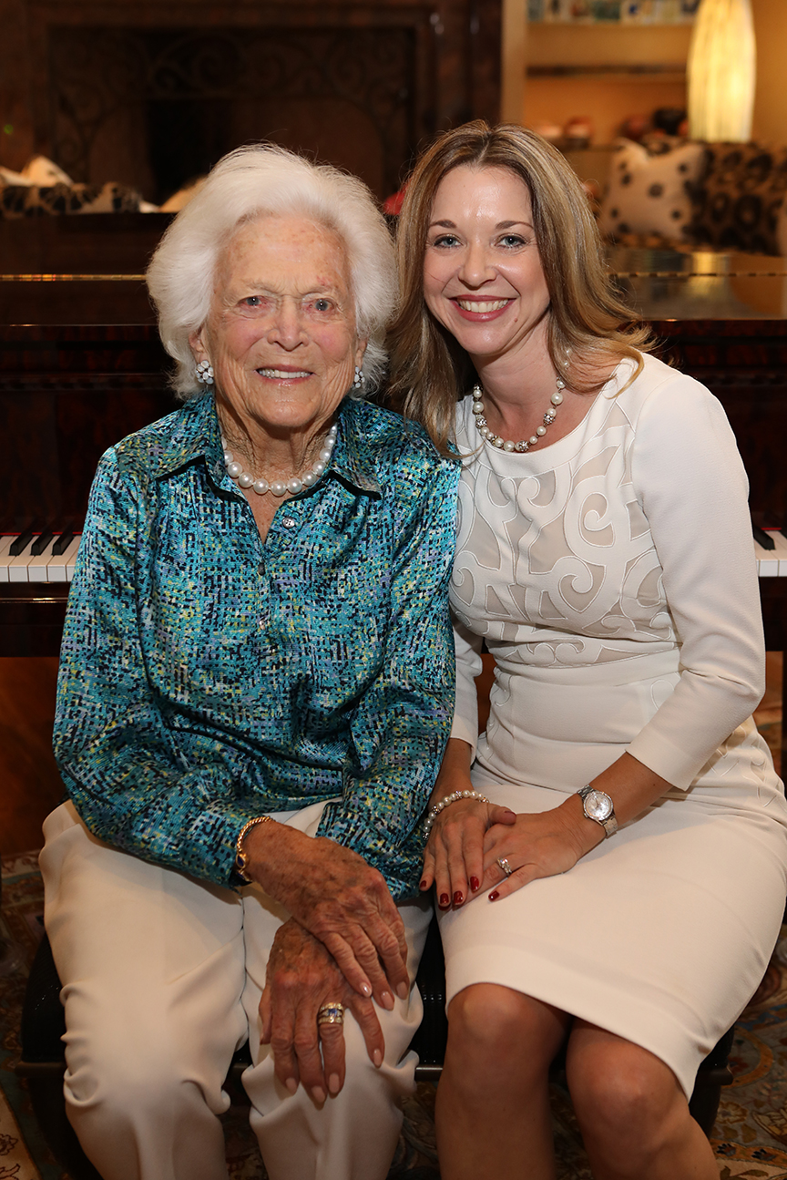 First Lady Barbara Bush with Foundation President Dr. Julie Baker Finck.