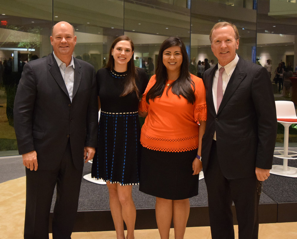From left: ConocoPhillips CEO Ryan Lance, Regan Dittmar, Victoria Villarreal, and Foundation Chairman Neil Bush.
