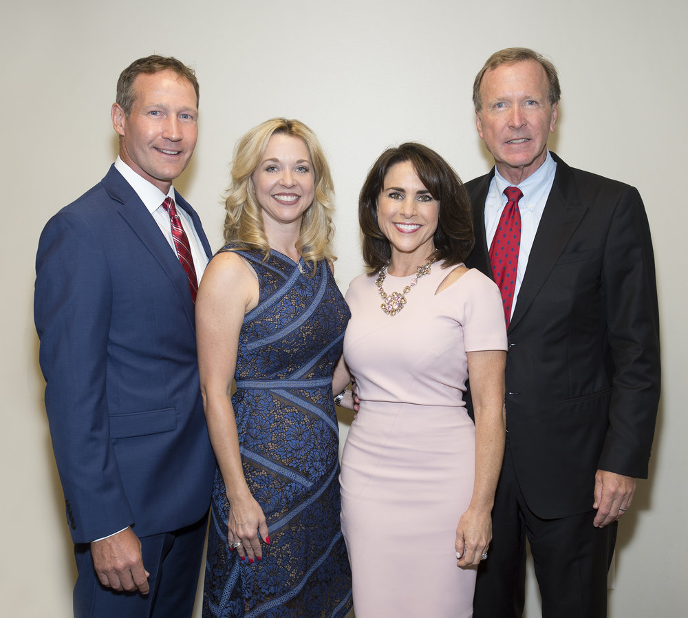 Ron and Julie Finck with Maria and Neil Bush. Photo Credit: Michelle Watson, CatchLight Group