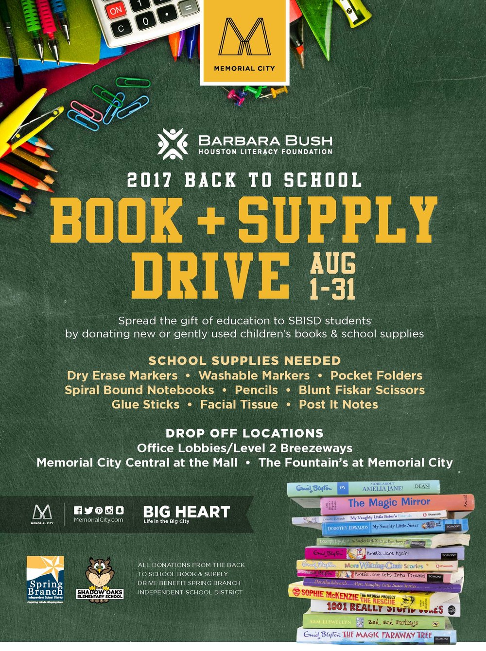 Back To School Drive To Benefit Children In Spring Branch Isd